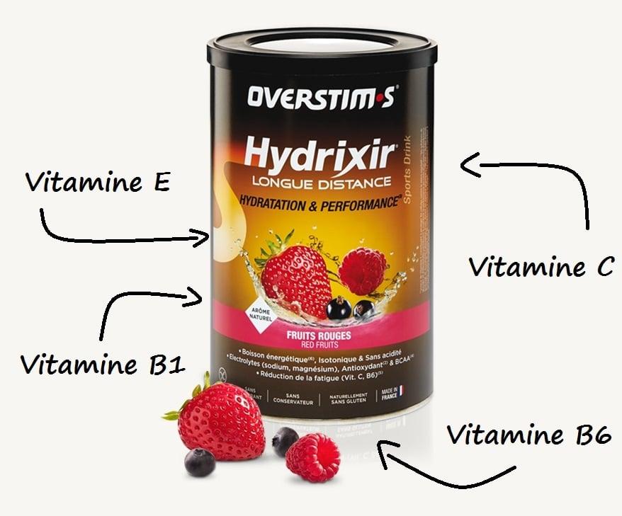 Hydrixir Longue Distance est riche en vitamines antioxydantes - Overstim;s