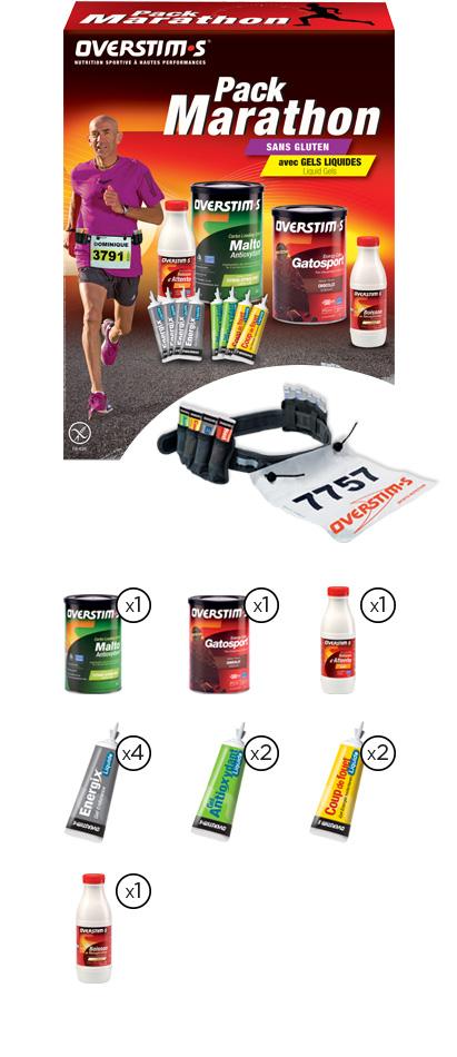 Pack marathon sans gluten